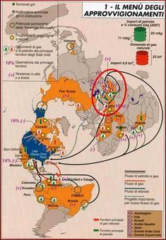 L'importanza energetica delle Regioni per gli Stati Uniti d'America. Fonte: Limes 6 (2008)