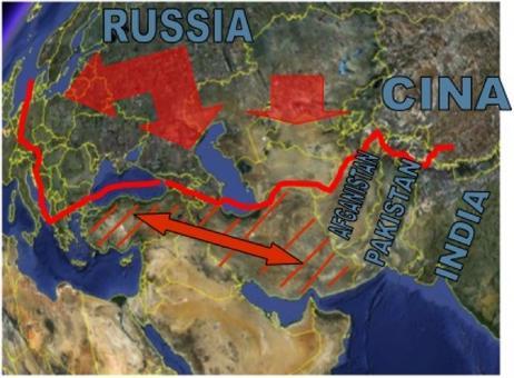 L'intesa Turchia Iran. Fonte: Elaborazione di Nicolino Castiello da Google Earth