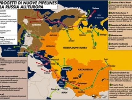 Oleodotto Russia – Mar Nero – Europa Fonte: Limes 3 (2009)