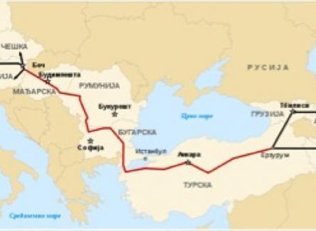 Oleodotto Nabucco Russia–Turchia – Europa Fonte: Wikimedia