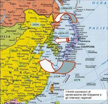 La concezione territoriale dello Stato e l'annessione delle risorse. Fonte: elaborazione di Nicolino Castiello da Nuovissimo Atlante del Touring Club Italiano, 2001