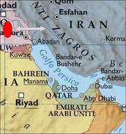 La questione Iran – Iraq. Fonte: Elaborazione di Nicolino Castiello da Nuovissimo Atlante del Touring Club Italiano, 2001