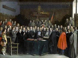 La ratifica del trattato di Münster. Fonte:  Wikipedia