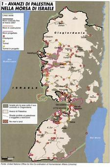 La Palestina: un esempio di Stato senza il suo territorio. Fonte: Limes 5 (2007)