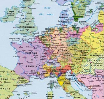 L'assetto dell'Europa dopo il 1648. Fonte: Nuovissimo Atlante del Touring Club Italiano, 2001
