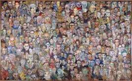 Un popolo di volti. Fonte: studio Treccani
