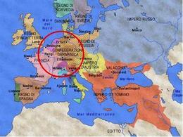 L'Europa dopo il congresso di Vienna. Fonte: elaborazione di Nicolino Castiello  da Nuovissimo Atlante del Touring Club Italiano, 2001