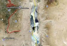 Confine giordano-palestinese (Fonte: Google Earth)