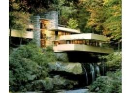 19SSE-fallingwater-elevat-L(1) Frank Lloyd Wright casa Kaufmann FALLINGWATER, U.S.A. Pittsburg (1932 – 1936). Fonte Almadar.
