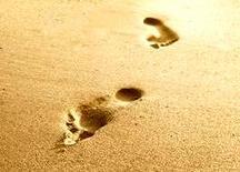 Impronte sulla sabbia. Fonte Brian Bowman.