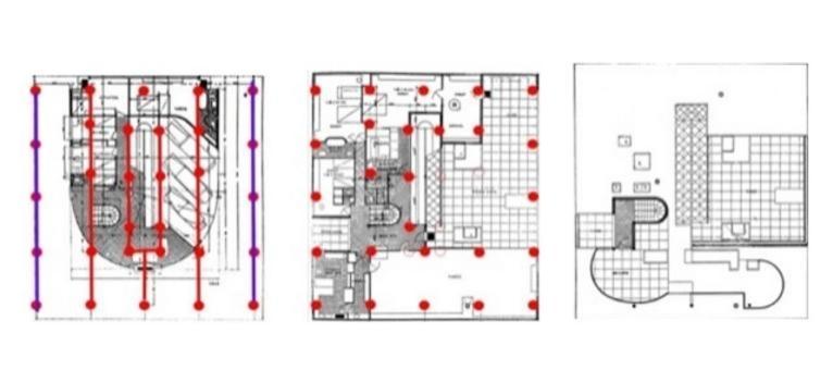 Planimetrie. Fonte Università di Messina prof. arch. Fabio Basile  Corso di Disegno Edile  —- livello 0 —-  livello 1 —- livello 2
