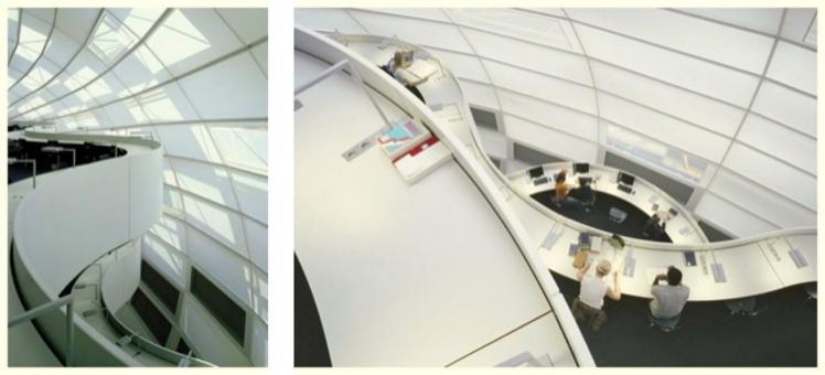 Foto a sinistra tratta da: Fosters+partners. Foto a destra tratta da: Freie Universität Berlin