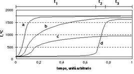 Esempi di profili temporali nella combustione omogenea