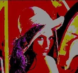 L'immagine ricostruita dopo la quantizzazione riproduce una discreta gamma di colori.