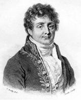 Jean Baptiste Joseph Fourier (1768 – 1830 ). Il testo in cui sono introdotti i concetti base della teoria e' «MEMOIRE sur les temperatures du globe terrestre et des espaces planetaires» (1827). Immagine tratta da:  Wikipedia
