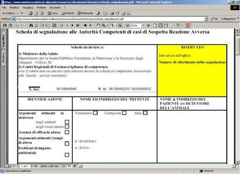 Allegato II del D. lvo 193/2006