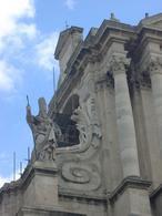 Siracusa. Ortigia. Particolare della Facciata della Cattedrale (foto dell'a. 2007).