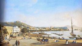 Napoli città portuale Il borgo di Chiaia e il porticciolo di Mergellina in un dipinto dell'800 (da T. Colletta, 2012).