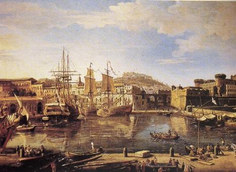 Napoli. Il porto storico e la Darsena in un famoso dipinto di Gaspare Van Wittel (fine sec. XVIII)