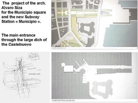 """Napoli città portuale. Il progetto della nuova stazione """"Municipio"""" della Linea 1 della Metropolitana ed il rapporto con il fronte mare nel progetto dell'arch. Alvaro Siza (da T. Colletta, 2010)."""
