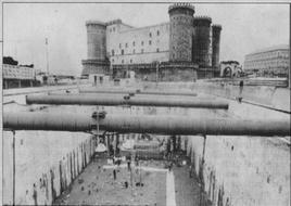 Napoli. Le scoperte archeologiche a piazza Municipio ad una quota di 15 metri sotto l'attuale (foto dell'a 2004).