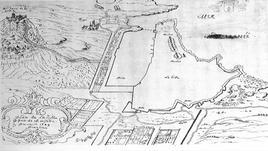 Marsiglia entro la cinta difensiva e il porto storico nel '600 ( da  T. Colletta, città portuali del Mediterraneo…, 2012).
