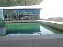 Il MUCEM visto dallo specchio d'acqua del Museo della Ville Méditerranéenne (foto dell'a. 2013).