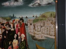 Marsiglia città portuale in un particolare di un antico dipinto conservato agli Archivi Municipali di Marsiglia (foto dell'a. 2009).