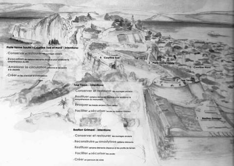 Nafplio in Grecia. Riqualificazione delle parti esistenti dell'Akronafplia fortezza medievale localizzata sul promontorio dominante e a difesa della città portuale di Nafplio  (da E. Maistrou, in T. Colletta, The role of integrated conservation…, 2013).