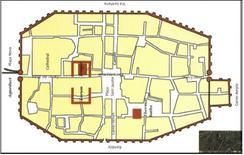 """Pianta della Barcellona romana: """"Barcelo""""."""