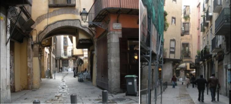 Barcellona città portuale ed il recupero dei quartieri marittimi  ad uso residenziale e commerciale (ancora in atto al 2009) , con la nuova pavimentazione e ad uso dei pedoni e dei ciclisti (foto dell'a.2009)