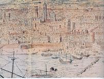 Particolare della veduta di Barcellona di Anton Van Wingaerde del 1563 (da T. Colletta, Napoli città portuale…, 2006).