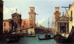 Venezia. Ingresso all'Arsenale nella veduta di Canaletto del 1732.