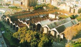 Barcellona. Gli Arsenali reali in una foto aerea che ne mostra la complessità.