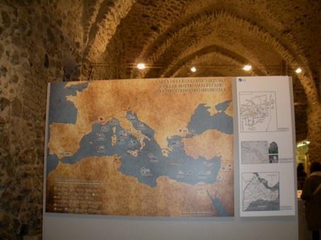 Amalfi (Campania). Il Museo della Bussola negli antichi arsenali medievali con la storia della repubblica marinara nel Mediterraneo e la localizzazione degli insediamenti (foto dell'a. 2012)