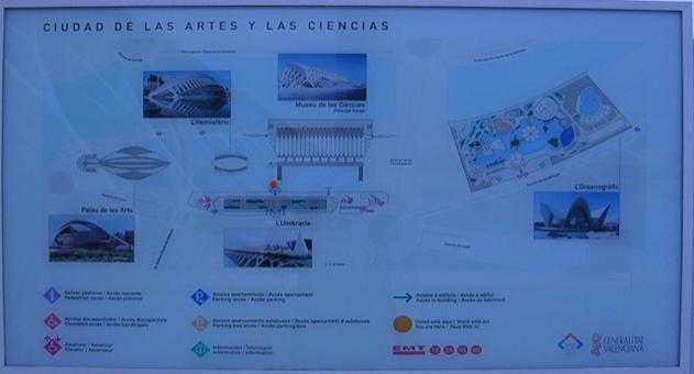 Valencia città porto. La città delle Scienze e delle Arti con tutte le Architetture monumentali dell'arch. valenciano Santiago  Calatrava (da materiali turistici  in loco)