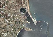 Valencia e il suo porto nel 1980, prima dell'evento della Coppa America
