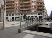 """""""Il cavaliere di Toledo"""" Statua bronzea di Wiliam Kentridge (foto dell'a. 2013)"""