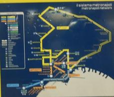 """Il sistema del Metrò a Napoli della Linea 1, da materiale didascalico esposto nella stazione """"università""""."""
