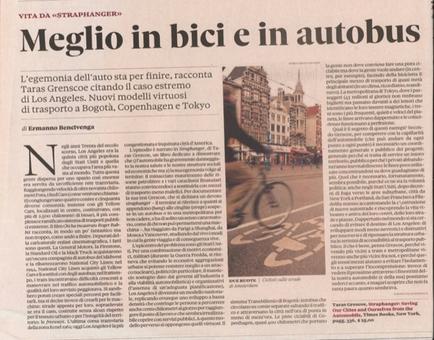 """La promozione della mobilità pedonale nella rivitalizzazione dei centri storici di tutto il mondo (da """"Il Sole 24 Ore"""", 2010)"""