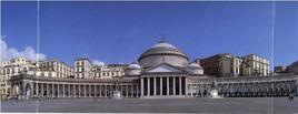 Napoli. Piazza Plebiscito veduta generale (da T. Colletta, La storia delle piazze, 2009)