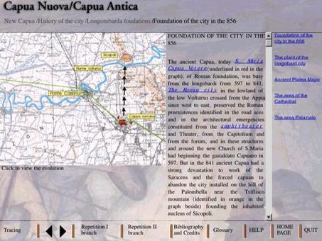 La Scheda e il grafico della Fondazione della nuova Capua sul Volturno nell'856 da parte dei Longobardi e l'abbandono della Capua romana.