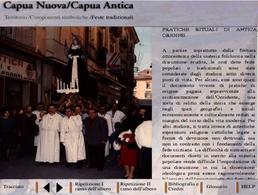 """Capua nuova. La scheda  del CD Rom illustra le """"Pratiche attuali di antica origine"""" affrontandone la storia e la resilienza a tutt'oggi."""