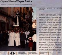Capua. Il nuovo approccio al turismo culturale. Le processioni all'interno del centro storico (da T. Colletta, I ritratti di città multimediali…, 2001)