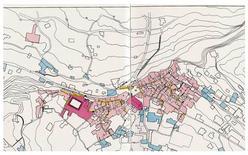 Capri, planimetria del centro urbano. Tav. 2 ,1:2500 (Fonte: T.Colletta, Capri, Atlante storico delle città italiane, ESI, Napoli, 1990).