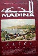 """Copertina della rivista """"Madinà"""" , edita dall'Institut du Monde Arabe di Parigi che s'interessa allo studio delle città arabe e islamiche pubblicata in lingua francese."""
