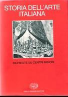 """Copertina del volume dell'Enciclopedia dell'Arte, vol.VIII (Einaudi, Torino), interamente dedicato alla storia delle città italiane: """"Inchiesta sui centri minori"""" del 1980."""