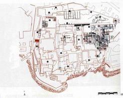 Pozzuoli. Pianta del Rione Terra (da T. Colletta, Pozuoli, città…, 1987).