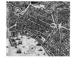 Napoli. Particolare della carta del Duperac – Lafrery del 1566. (da T. Colletta, Napoli città portuale…, 2006).