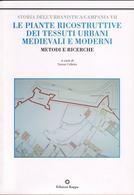 """Copertina del volume degli Atti della Giornata di studio di Amalfi su """"Le piante ricostruttive di città dei tessuti storici. Metodi e ricerche"""",  2004)."""